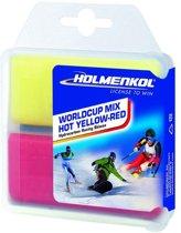 Holmenkol Snowboard onderdelen Worldcup Mix HOT Yel-Red 2X35g ONE SIZ