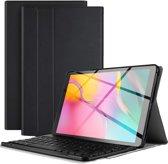 Samsung Galaxy Tab A 10.1 2019 Hoesje Bluetooth Toetsenbord Hoes Zwart