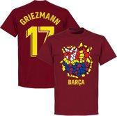 Barcelona Griezmann 17 Gaudi Logo T-Shirt - Bordeaux Rood - XXL
