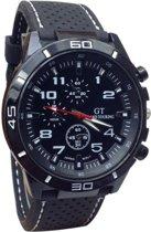 Hidzo Horloge GT Sport ø 40 mm - Wit - Inclusief horlogedoosje