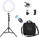 14 inch ringlamp set – fotostudio – lichtstudio – make-up licht – beauty lamp –  met camera statief