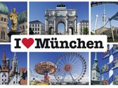 Schmidt puzzel I love München 1000 stukjes