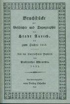 Bruchstücke zur Geschichte und Topographie der Stadt Aurich bis zum Jahre 1813