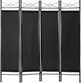 kamerscherm ruimteverdeler 180 x 160 x 2,5 cm zwart 401662