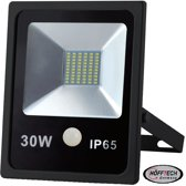 Höfftech LED Straler met Bewegingssensor - 30 Watt - Zwart - Weersbestendige Floodlight