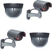 relaxdays 4 x dummy beveiligingscamera - nepcamera - camera nep - 2 CCD   2 Dome - LED