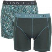 Vinnie-G boxershorts Leaves Dark-Print 2-pack -M