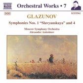 Glazunov: Sym. Nos. 1 & 4