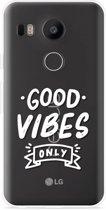 LG Nexus 5X Hoesje Good Vibes wit
