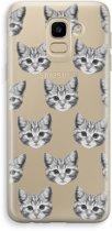Samsung Galaxy J6 (2018) Transparant Hoesje (Soft) - Kitten