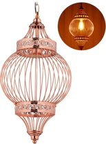 relaxdays oosterse hanglamp - plafondlamp - koper - lamp - eetkamer lamp - arabisch - E27