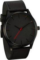 Hidzo Horloge Reloj ø 37 mm - Zwart - Inclusief horlogedoosje