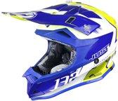 Just1 Crosshelm J32 Pro Kick White/Blue/Yellow-L