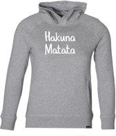 Hakuna Matata Hoodie unisex grijs 110-116