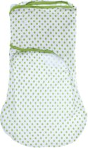 SwaddleMe Wrapsack Groen Stippen Large
