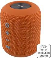 STREETZ CM757, Waterdichte Bluetooth-luidspreker, stofontwerp, TWS, 2x5W, IPX5, Bluetooth 4.2, Oranje