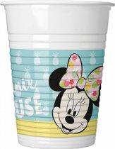 Minnie Mouse Bekers Tropical Plastic 200ml 8 stuks