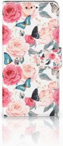 Huawei Mate 20 Pro Uniek Boekhoesje Butterfly Roses