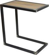 Spinder Design Divani - Bijzettafel - 30x50x52 - Blacksmith/Eiken