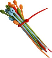 Tie wraps - Tywrap herbruikbaar - siliconen kabelbinders - 21 centimeter - 20 pack