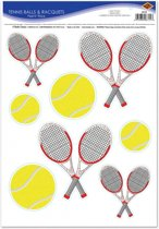 Tennis thema stickervel