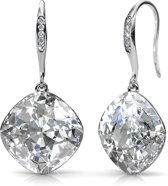 Yolora oorbellen dames - Swarovski kristal - zilver kleurig - set oorbellen - YO-034