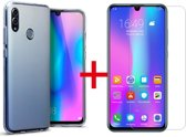 Huawei P Smart 2019 - Backcover Hoesje & Tempered Glass Combi - Transparant