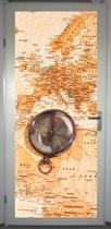 Deurposter 'Kompas 1' - deursticker 75x195 cm