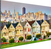Architectuur van San Fransisco Aluminium 90x60 cm - Foto print op Aluminium (metaal wanddecoratie)