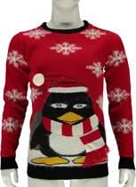 Foute Kersttrui Heren Toffe Pinguin - Maat XL