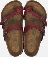Birkenstock Mayari Slippers - Maat 42 - Vrouwen - rood/bruin