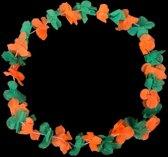 Groen, oranje Hawaii kransen Kruikenstad - Hawaii slingers 120 stuks