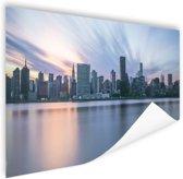 Manhattan New York skyline zonsondergang Poster 150x75 cm - Foto print op Poster (wanddecoratie woonkamer / slaapkamer) / Amerikaanse steden Poster