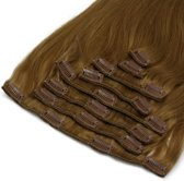 Clip In Hair Extensions BIGSET middenbruin 60cm 260gram 100%remy human hairextensions