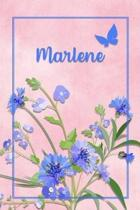 Marlene: Personalized Journal with Her German Name (Mein Tagebuch)