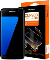 Spigen Curved Crystal Screenprotector Samsung Galaxy S7 edge - 2-pack - 556FL20257