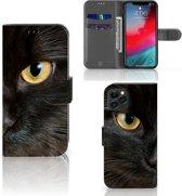 iPhone 11 Pro Telefoonhoesje met Pasjes Zwarte Kat