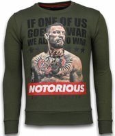 Local Fanatic Conor McGregor - Rhinestone Sweater - Groen - Maten: XXL