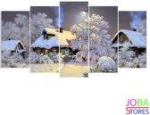 "Diamond Painting ""JobaStores®"" Winterhuis - volledig - 75x40cm"