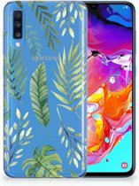 Samsung Galaxy A70 TPU-siliconen Hoesje Leaves