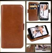 Bouletta - iPhone 6 Plus hoes - Leer BookCase Bruin (Rustic Cognac)