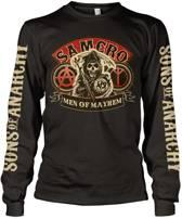 Merchandising SONS OF ANARCHY - T-Shirt Long Sleeve Samcro Men of Mayhem (M)