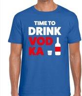 Time to drink Vodka heren shirt blauw - Heren feest t-shirts L