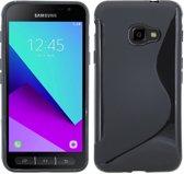 Samsung Galaxy Xcover 4s Zwart S-line TPU siliconen case hoesje