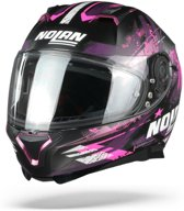 Nolan N87 Carnival 86 Flat Black Pink White  Integraalhelm - Motorhelm - Maat L