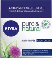 NIVEA Pure & Natural Anti-Age - 50 ml - Nachtcrème