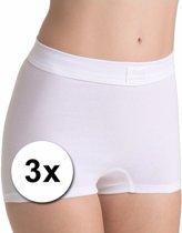 Sloggi Double Comfort Dames Short - (3-pack) - Wit - Maat 46