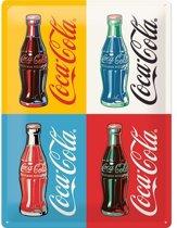 Nostalgic Art Metalen bord Coca-Cola Four Bottles limited