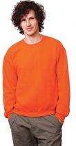 Oranje sweater voor dames en heren S