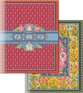 Pip Studio Schriften - A5 - 40 Bladzijdes - 6 Stuks - Rood/Blauw/Geel